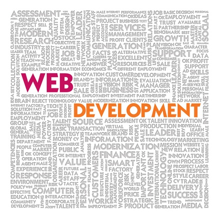 Word cloud for business and finance concept, Web Development photo