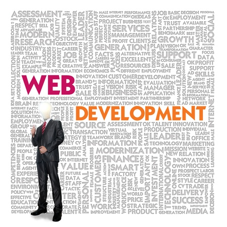 hypertext: Word cloud for business and finance concept, Web Development