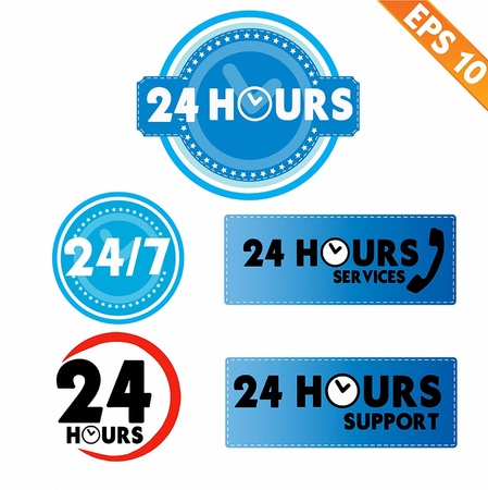 24 hour: 24 hours collection  - Vector illustration