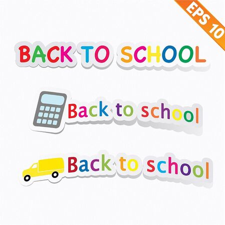 Back to school - Vector illustration Vector