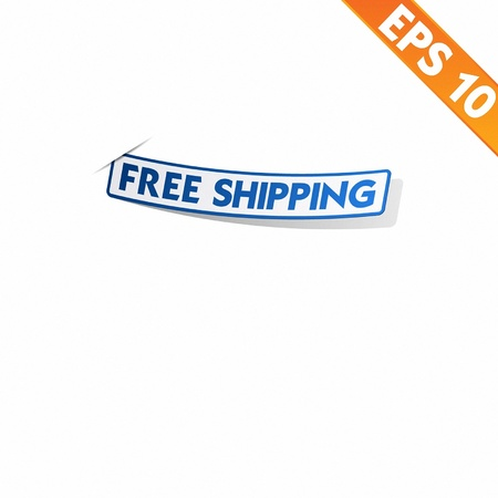 Logistic sticker - Vector illustration Vector