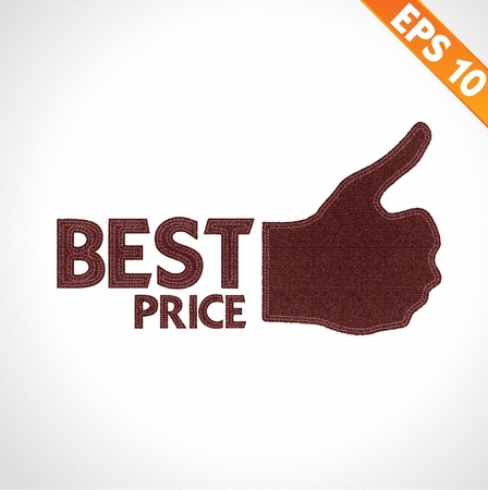 Best Quality thumb up on denim style - Vector illustration   Vector
