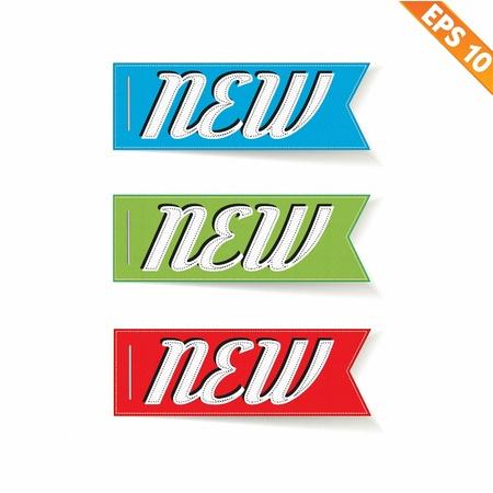 Label stitch NEW tag - Vector illustration