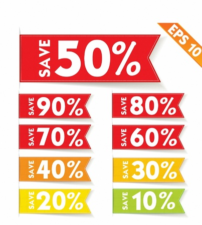 Sale percent sticker price tag  - Vector illustration  Vector