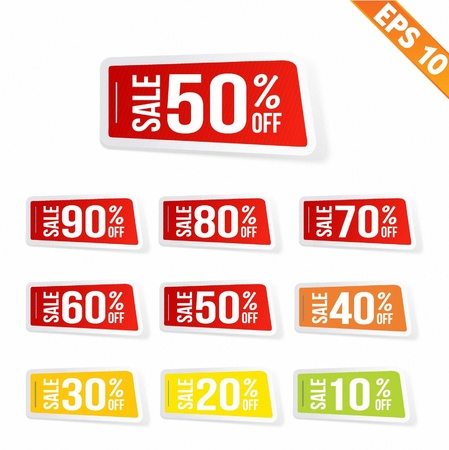 Sale sticker tag  - Vector illustration  Vector
