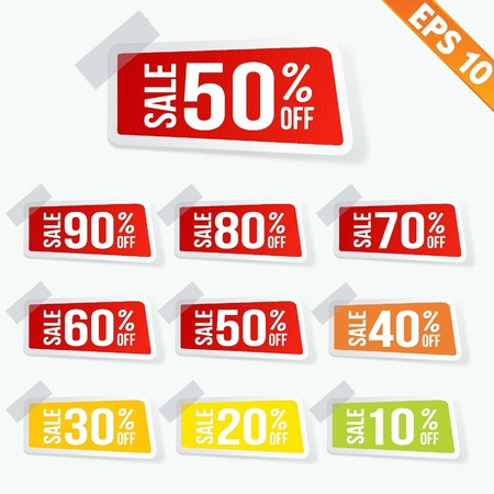 Sale sticker tag  - Vector illustration Stock Vector - 20847832
