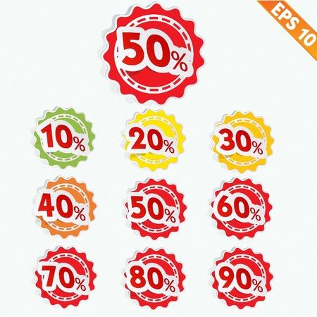 Label sale tag  - Vector illustration  Illustration