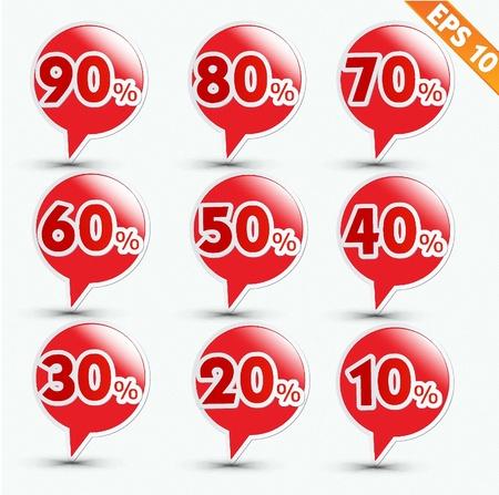 tear off: Label sale sticker tag  - Vector illustration