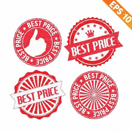 Stamp sticker best collection  - Vector illustration