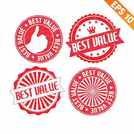Stamp sticker best value collection  - Vector illustration  Vector