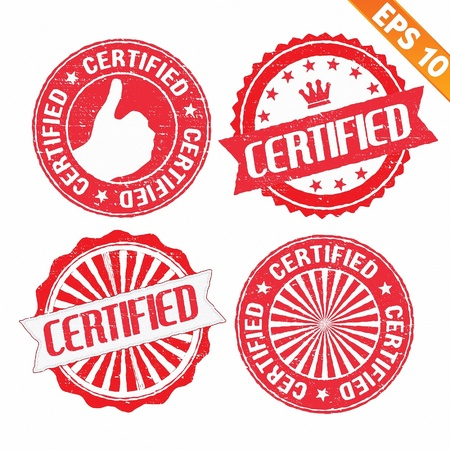 Stamp sticker certified collection  - Vector illustration  Vector