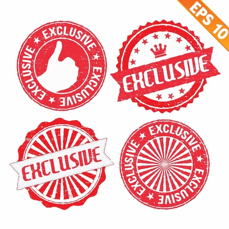 exclusive icon: Stamp sticker exclusive collection  - Vector illustration  Illustration