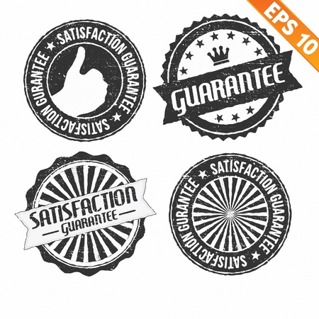 Stamp sticker guarantee collection  - Vector illustration  Vector
