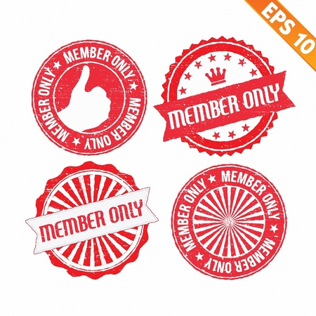 Stamp sticker member only collection  - Vector illustration  Vector