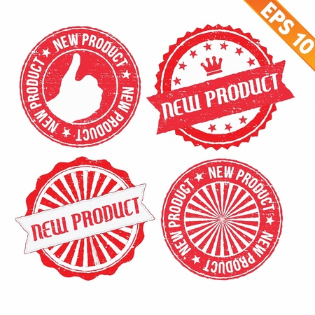 Stamp sticker new product collection  - Vector illustration  Vector