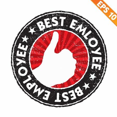 employee satisfaction: Stamp sticker best employee collection  - Vector illustration  Illustration