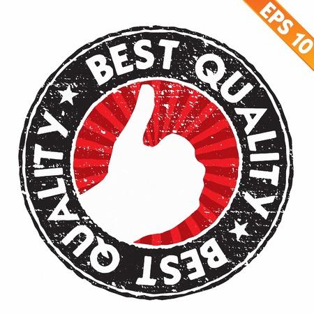 best service: Stamp sticker best collection  - Vector illustration