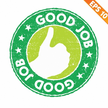 Stamp sticker compliment collection  - Vector illustration