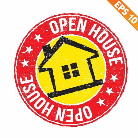 Stamp sticker house collection  - Vector illustration  Vector