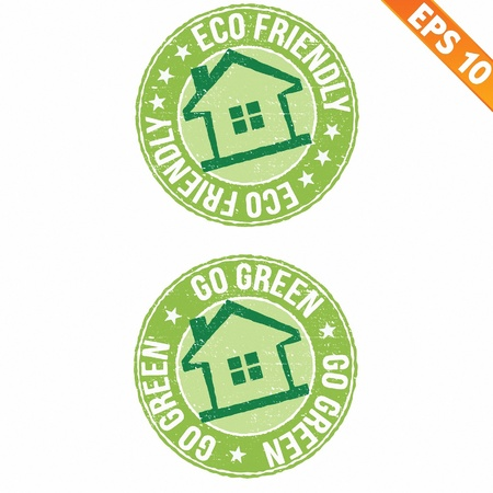 Stamp sticker ECO collection  - Vector illustration   Vector