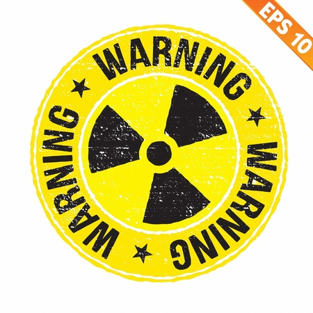 radioisotope: Stamp sticker Nuclear collection  - Vector illustration- EPS10