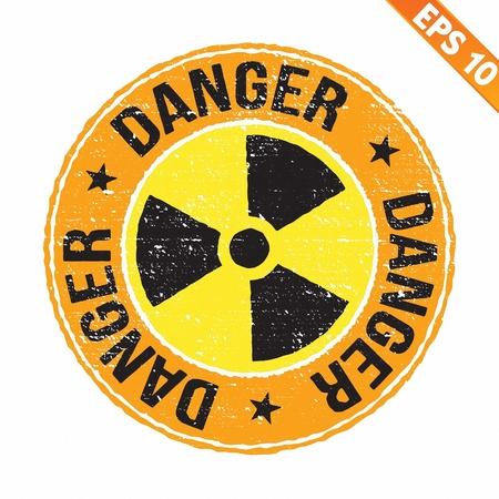 radioisotope: Stamp sticker Nuclear collection  - Vector illustration Illustration
