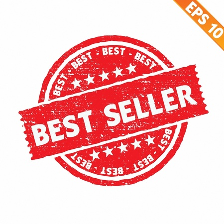 Stamp sticker best seller collection  - Vector illustration Stock Vector - 20848052