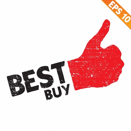 Stamp sticker best buy tag collection  - Vector illustration  Vector