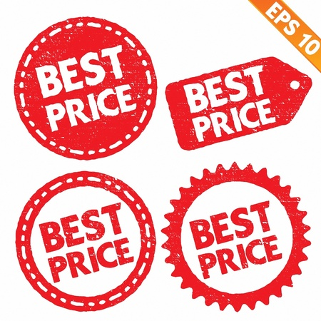 Stamp sticker best price tag collection  - Vector illustration Stock Vector - 20866472