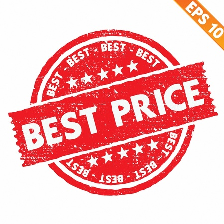 Stamp sticker best price collection  - Vector illustration  Stock Vector - 20866482
