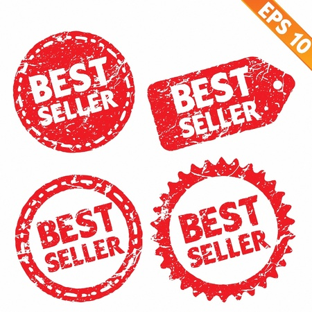 Stamp stitcker best seller product tag collection  - Vector illustration  Vector
