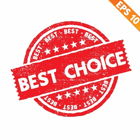 Stamp sticker best choice collection  - Vector illustration  Stock Vector - 20866512