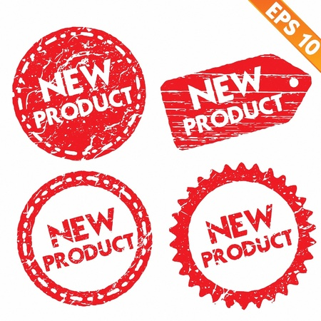 Stamp stitcker new product tag collection  - Vector illustration  Vector