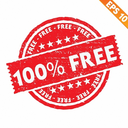 Stamp sticker Free collection  - Vector illustration  Vector