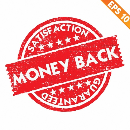 Stamp sticker money back collection  - Vector illustration  Vector