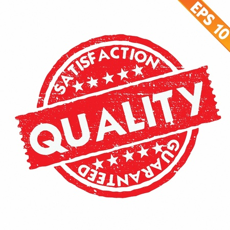 Stamp sticker quality collection  - Vector illustration - EPS10 Vector