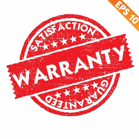 Stamp sticker WARRANTY collection  - Vector illustration  Vector