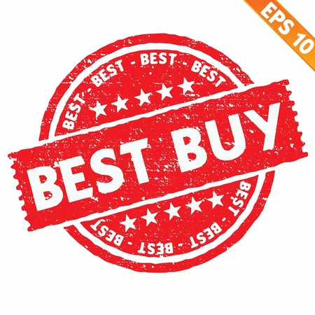 Stamp sticker best buy collection  - Vector illustration  Vector