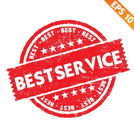 best service: Stamp sticker best service collection  - Vector illustration
