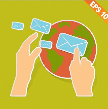 email communication - Vector illustration Stock Vector - 20895956