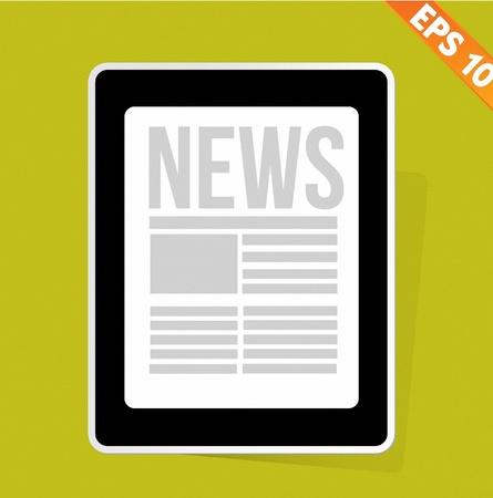News on tablet - Vector illustration Stock Vector - 20896055
