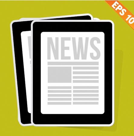 News on tablet - Vector illustration  Vector