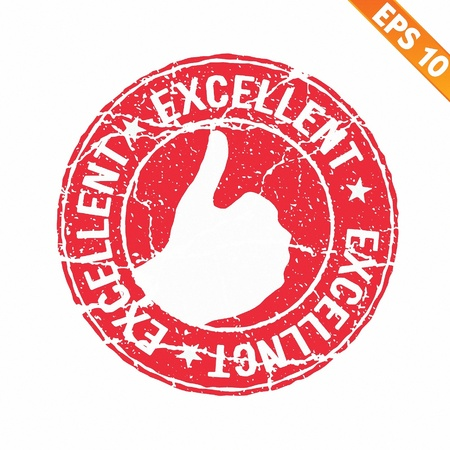 Excellent rubber stamp  - Vector illustration Stock Vector - 20896168