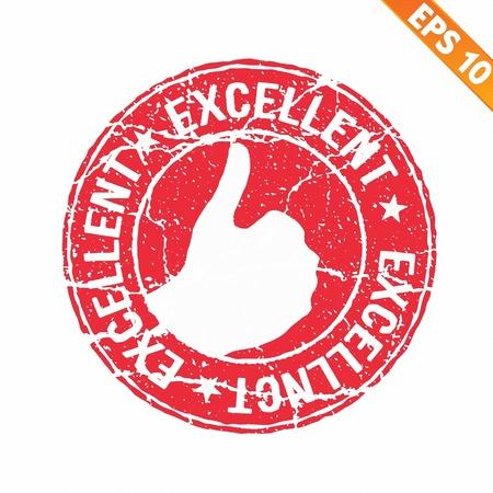 Excellent rubber stamp - Vector illustration