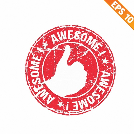 Excellent rubber stamp  - Vector illustration  Vector