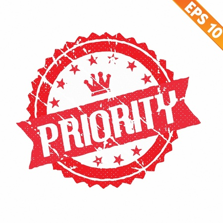 valid:  Rubber stamp high priority - Vector illustration  Illustration