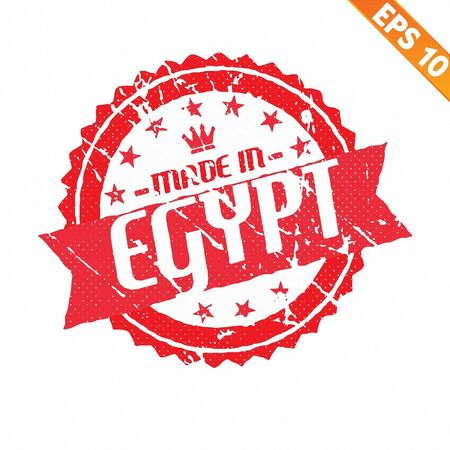 Rubber stamp made in the country - Vector illustration  Vector