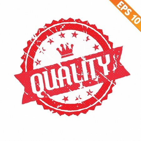 Rubber stamp with quality word - Vector illustration   Vector