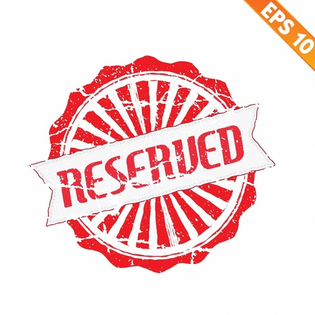 Rubber stamp reserved - Vector illustration  Vector