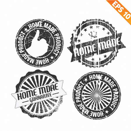 Label stitch sticker tag handmade - Vector illustration  Vector